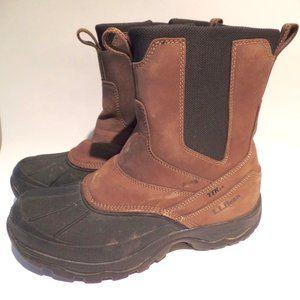 LL Bean Tek 2.5 Zip Up Leather Snow Boots